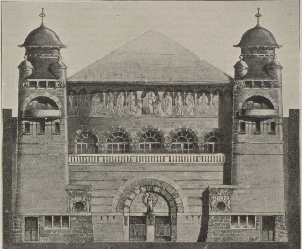 C. Harrison Townsend, First design for Whitechapel Art Gallery, 1896